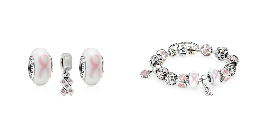 charms pandora cancer de mama